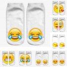 3D Print Emoji Socks Women Funny Casual Character Socks Unisex Low Ankle Socks