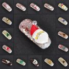 10pcs NEW Nail Art Tips Decoration 3D Christmas Alloy Jewelry Glitter Rhinestone