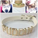 PUDDIN Cosplay Necklace For Suicide Squad Harley Quinn Collar Choker Steampunk