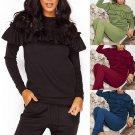 Women Kids Hoodies Sport Tops Pants Tracksuit Sweatshirt Sweat Suit Jogging Set