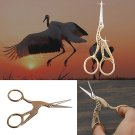 L/S Vintage Stork Embroidery Sewing Craft Shears Cross Stitch Scissors Cutter