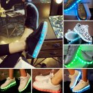 Unisex LED Light Lace Up Luminous Shoes Sportswear Sneaker Luminous Casual Shoes