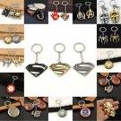 Superman Batman Shield Mask Avengers Metal Keychain Key Ring Keyring Keyfob