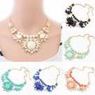 2016 Charm Chunky Crystal Statement Bib Chain Choker Pendant Necklace Jewelry