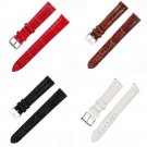 12/14/16/18/20/22/24mm PU Leather Strap Steel Buckle Sport Wrist Watch Band