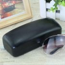 Black Square Eye Glasses Sunglasses Hard Case Box Portable Protector Holder Clam