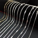 """Wholesale lots Fashion Silver Plated Wave Chain Necklace 16""""-30"""""""
