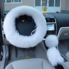 Car Steering Wheel Cover Protector Set Super Soft Comfortable Wool Woolen New