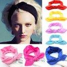 1PCS Women Yoga Elastic Bow Hairband Turban Knotted Rabbit Hair Band Headband