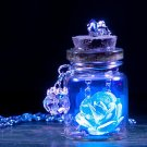 Glow in the Dark Flower Glass Tiny Wishing Bottle Vial Necklace Pendant