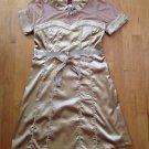Sevengate Women's  Boutique Short Sleeve  Gold Dress Size Medium