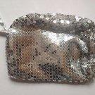 Women Silver Sequin Evening Clutch Bag Party Wedding Purse Handbag 7 X 6