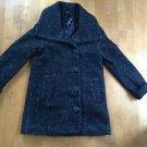 H&M Women's Wool Blend Peacoat Size 4 Black and White