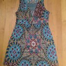 Oatt U.S.A. Women's Sleeveless Stretch  V-Neck Multi Color Dress Size Large