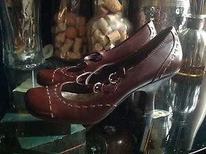 Style & Co Women's Brown Leather Lenete  Size 6M Mary Jane Kitten Heel