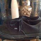 VANS  All Black Authentic Size 7.5 Men's / 9 Women's
