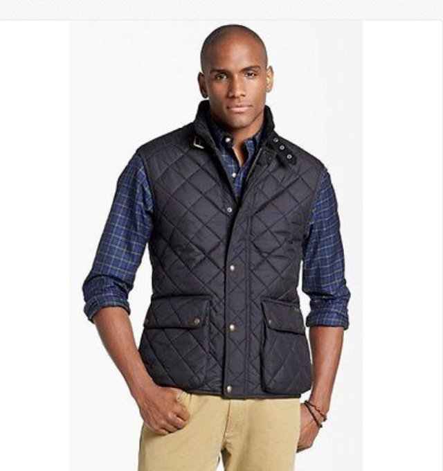 Polo Ralph Lauren Men's Navy Blue Diamond-Quilted Aviator Vest Sizes  2X, 3X 4X