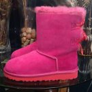 UGG Australia Girls Pink Bailey Bow Bloom Boots Style 1009329K