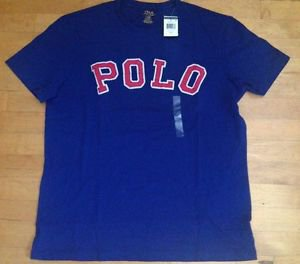 POLO RALPH LAUREN MEN'S SHORT SLEEVE BLUE VARSITY FALL ROYAL NWT EVERY SIZE