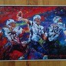 Tom Brady New England  Patriots # 12  Poster 17 X 11 Colorful Splatter Glossy