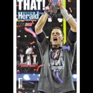 New England Patriots Super Bowl 51 Champs Roger That Poster Boston Herlad 18 X24