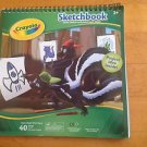 Crayola Sketchbook 40 Sheets 9 x 9 Artbook For Ages 4 Up New Bright White Paper