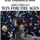 New England Patriots  Boston Globe Superbowl Championship  Paper 2-6-2017
