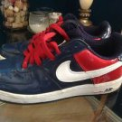 Nike Air Forces 1s Size 8.5 Navy Blue and Red Patent Leather  World Cup Series