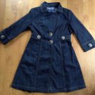 Baccini Women's Jean Trench Jacket  Size Small