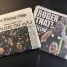 New England Patriots Boston Globe Newspaper & Herald Super Bowl 51  Feb 6th 2017