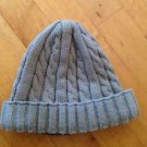Gray Cable Knit Beanie / Sculley / Winter Hat Size Medium Adult Stretch Fit