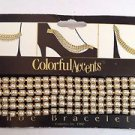 Colorful Accents Shoe Bracelets Shoe Jewelry Faux Pearl/ Gold Trim Design 6inch