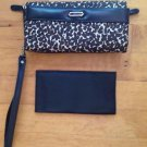 WOMEN'S CHEETAH  PRINT WALLET/CHECKBOOK/ ORGANIZER CARD HOLDER  Bi- FOLD 7 X 4