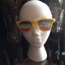 Hello Sunny Yellow  Design Sunglasses by Greater Fort Lauderdale
