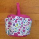 10-pocket shower Caddy tote, Pink Multi Color  Beach or Shower Organizer