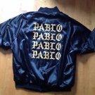 Kanye West The Life of Pablo Pop Up Shop TLOP Black Satin Bomber Jacket Size 2X