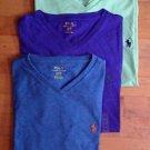 Polo Ralph Lauren T Shirt V Neck Size S M L XL - Classic Fit - Assorted Colors