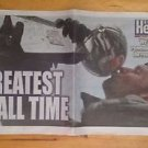 Boston Herald Patriots SUPERBOWL The Greatest  TOM BRADY KISSING TROPHY  2/7/17