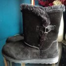 Canyon River Blues Buckle Women's Black Suede Boots Size 9 Style 21983