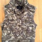 Iris Camouflage Women's Brown  Vest Size Small with spiked shoulders