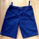 Timberland Mens Navy Blue Cargo Shorts Size 33 with Adjustable Straps