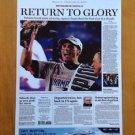 New England Patriots Poster 17 X 11 Boston Globe Super Bowl Return to Glory 2015