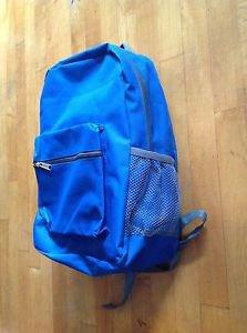 Blue Backpack/Bookbag / Hiking Bag  Includes Side Water Holder