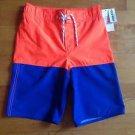 Old Navy Boy's Swim Beach Surfing Shorts Size Medium-8 Orange & Blue with Lining