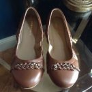 Ann Taylor Chain Detail Flats Size 6 Dark Chocolate Style 368987