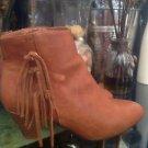 Thalia Sodi Lorysbrn Cognac Brown Ankle Boots Size 6.5M