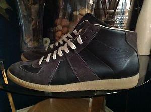 MAISON MARTIN MARGIELA  Size 43  Geometric Paneled Sneakers Black/Gray $500