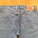 Levi Strauss Men's 501 Button Fly  Light Blue Jeans size W 38 L 32 Straight Leg