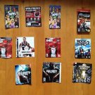 Playstation 3 and PSP Game Lot of 10 Inserts / Manual's   no Games Included