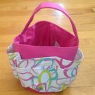 10-pocket shower Caddy tote, Pink Multi Color Shower or Beach Organizer Man-Made
